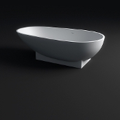 Cast Stone Freestanding Bath Tub 72""