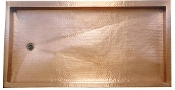 Copper Shower Pans Rectangle 72""