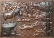 "Copper Mural MP-010 Wildlife Scene 24"" x 36"""