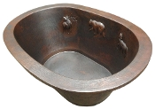 "Copper Bath Tub Drop In, Undermount, Copper Tile 12 Gauge Drop In 32"" Wide"
