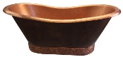 Copper Bath Tub BT-010 With Tile Base
