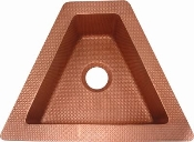 "Copper Triangle Bar Sink 24"" x 19"""