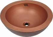 Copper Custom Vessel Sink 17.25""