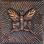 "Copper Tile 4"" Butterfly"