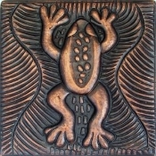 "Copper Tile 4"" Frog"