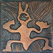 "Copper Tile 4"" Totem"