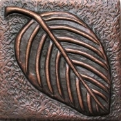 "Copper Tile 4"" Leaf"