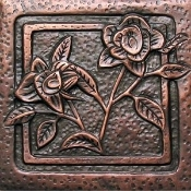 "Copper 4"" Tile Garden Series Flower #4"