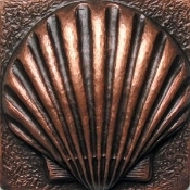 "Copper 4"" Scallop Tile"