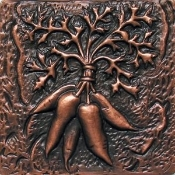 "Copper 4"" Tile Radishes - #1"