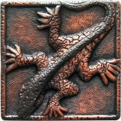 "Copper 4"" Tiles Crocodile"