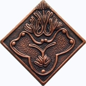 "Copper Tile 4"" Flower"