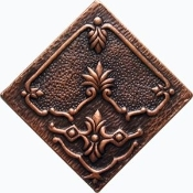 "Copper 4"" Tile Flowers"