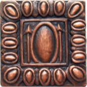 "Copper 4"" Tiles Egg And Dart"