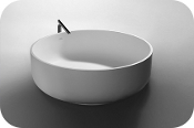"Cast Stone Freestanding Bath Tub 53"" Round"