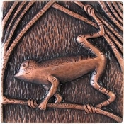 "Copper 4"" Tiles Tree Frog"