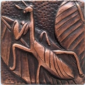 "Copper Tile 4"" Grasshopper"