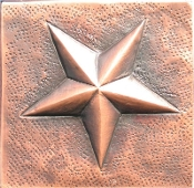 "Copper Tile 4"" Star"