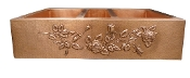 "Copper Farmhouse Triple Bowl Sink 40"" 42"" 44"""