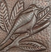 "Copper 4"" Tile Chickadee"