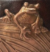 "Copper Tile 4"" Frogs"