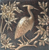 Copper Heron Tile