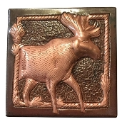 "Copper Tile 4"" Moose"