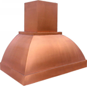 CRH-008 Copper Range Hood. Custom Build And Design.