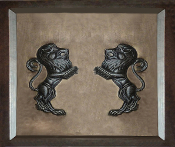 "Copper Murals And Cabinets Panels 24"" L x 16"" H Lions"