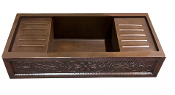 "Copper Apron Double Drainboard Sink 40"" Custom"