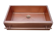 "Copper Kitchen Vessel Single Bowl Sink 33"" Counter Top Sink"