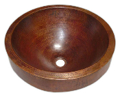 Copper Custom Vessel Sink 16.5""