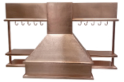 CRH-007 Copper Range Hood With Shelving