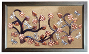 "Copper Murals And Cabinets Panels Dragonfly Garden 23"" L x 16"" H"