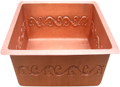 "Copper Bar Sinks 16"" X 12"" Copper Apron Front Designs"