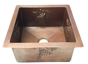 "Copper Bar Sink 18"" x 14"" designs"