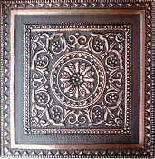 "Copper 4"" Tile Flower Circle CT-127"