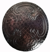 CT-124 Round Copper Tile With Design