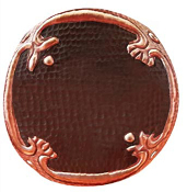 CT-126 Round Copper Tile With Design #2