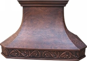 CRH-003 Copper Range Hood. Custom Build To Your Size Requirments