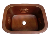 "Copper Single Bowl Sink 30"", Copper Undermount Sink 30"", 33"", 36"""