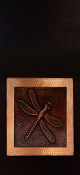 "Copper Cabinet Panel Dragonfly 36"" x 16"""
