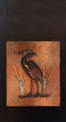 "Copper Cabinet Panel Heron 36"" x 16"""