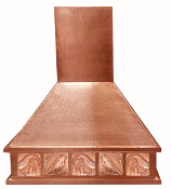 CRH-009 Copper Range Hood With Copper Tile Design