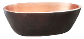 "BT-006 36"" Copper Double Wall Oval Bath Tub"