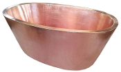 "BT-006 32"" Copper Double Wall Oval Bath Tub 12 Gauge"
