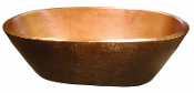 "BT-006 42"" Copper Double Wall Oval Bath Tub"