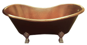 "Copper Soaking Bath Tub 36"" CBT-012 Wide 12 Gauge Copper Old World Copper Claw Foot Tubs"