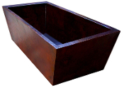 "BT-015 38"" Copper Double Wall Rectangle Bath Tub 12 Gauge"