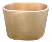 BT-003 Japanese Copper Double Wall Oval Sitting Bath Tub